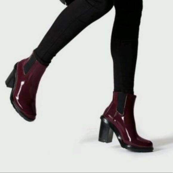 c565cbcaaad7 Hunter Shoes - Hunter® Refined Mid Heel Gloss Rain Boots